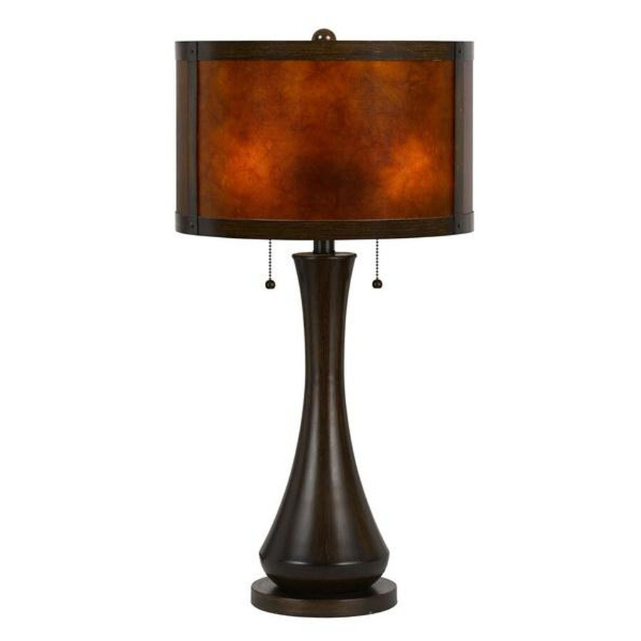 shop axis 25 in 3 way viejo mica indoor table lamp with fabric shade. Black Bedroom Furniture Sets. Home Design Ideas