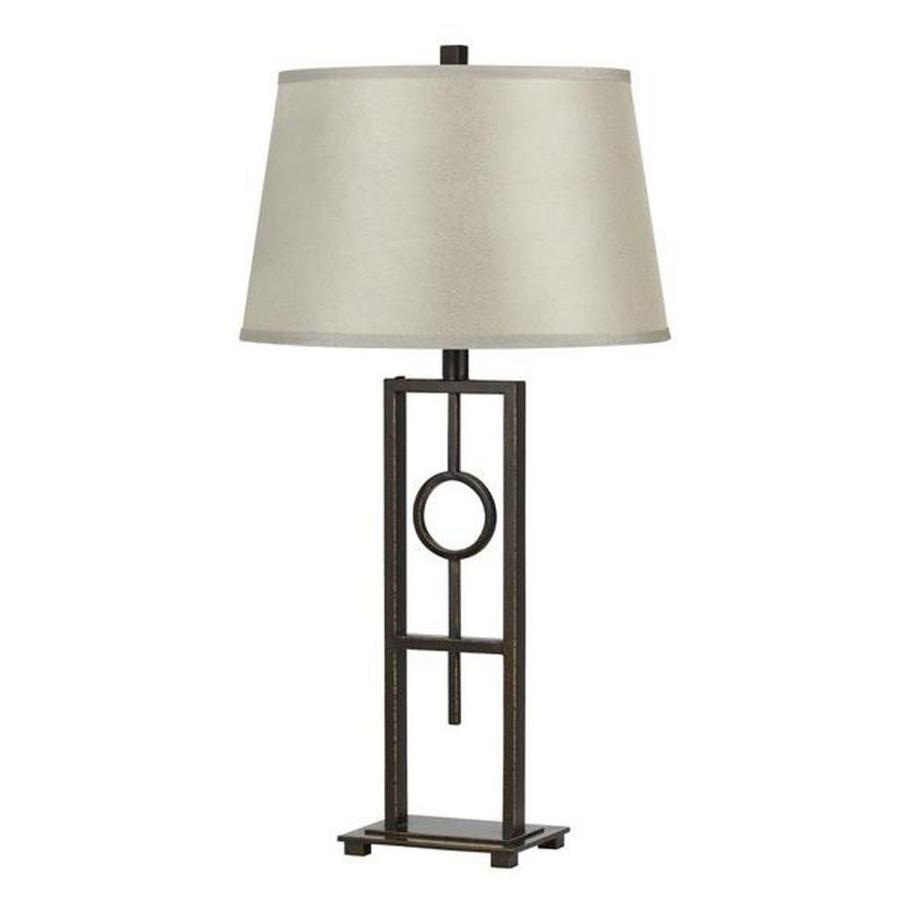 Axis 25-in 3-Way Rubbed Bronze Indoor Table Lamp with Fabric Shade
