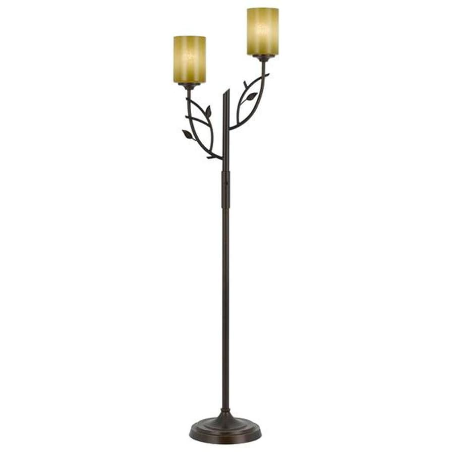 Axis 29-in 3-Way Switch Rust Indoor Floor Lamp with Glass Shade