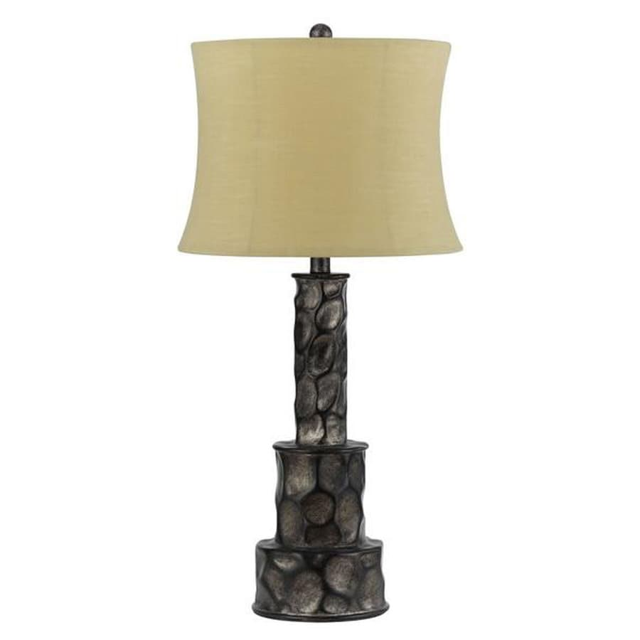 Axis 18-in 3-Way Rock Indoor Table Lamp with Fabric Shade
