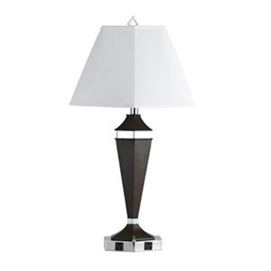 Axis 20-in 3-Way Black Indoor Table Lamp with Fabric Shade