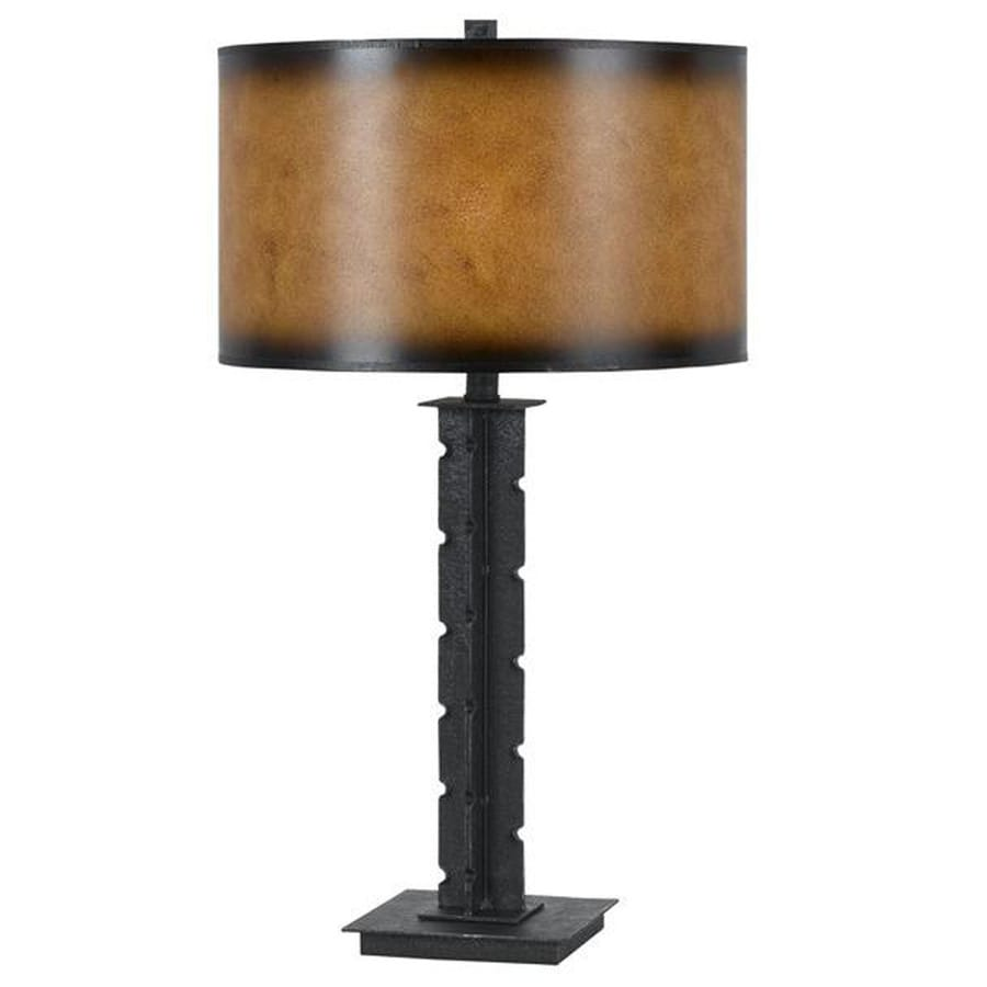 Axis 33-in 3-Way Iron Indoor Table Lamp with Fabric Shade
