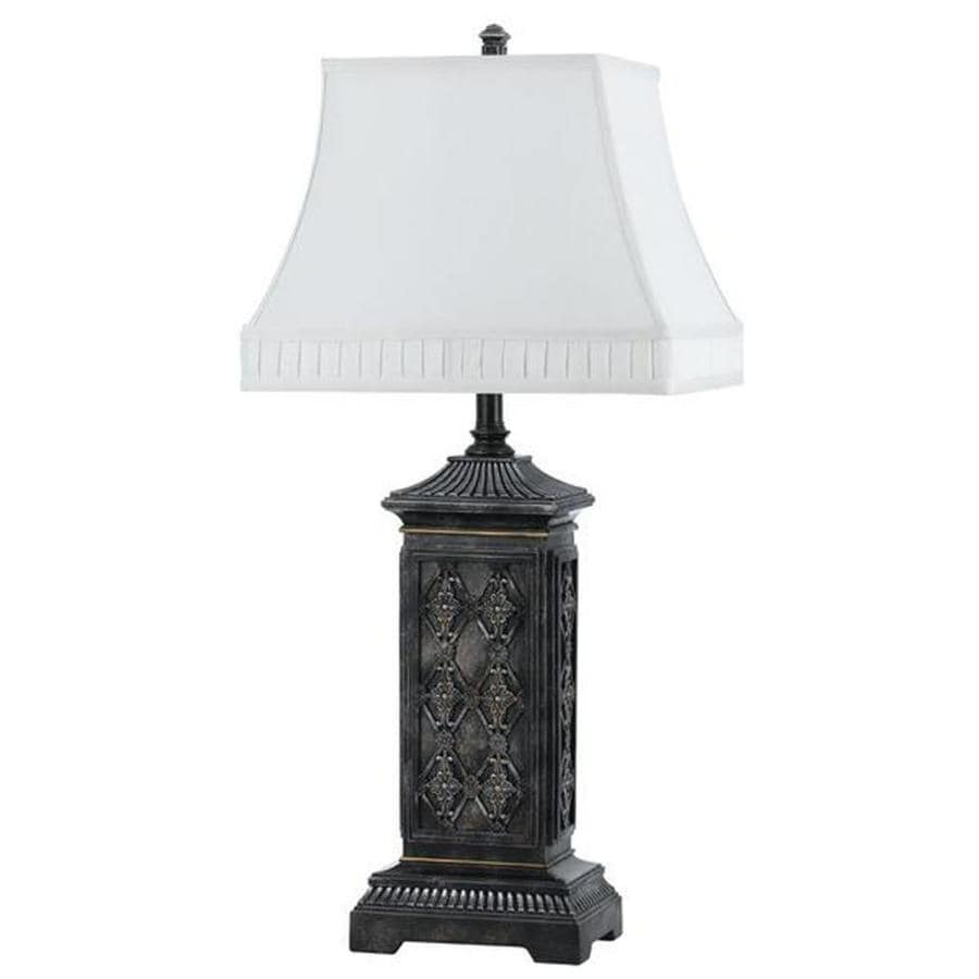 Axis 20-in 3-Way Stone Indoor Table Lamp with Fabric Shade