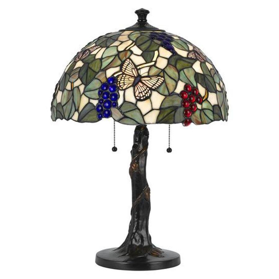 Axis 23.25-in 3-Way Dark Bronze Indoor Table Lamp with Glass Shade