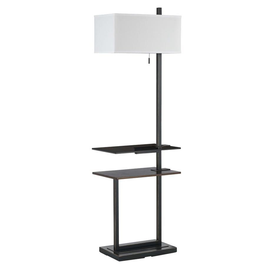 Axis 59-in 3-Way Switch Dark Bronze Indoor Floor Lamp with Fabric Shade