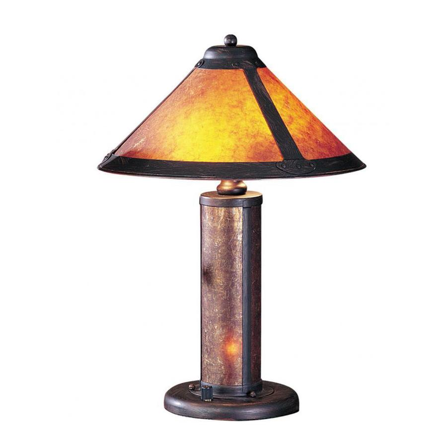 Axis 20-in 3-Way Rust Indoor Table Lamp with Glass Shade