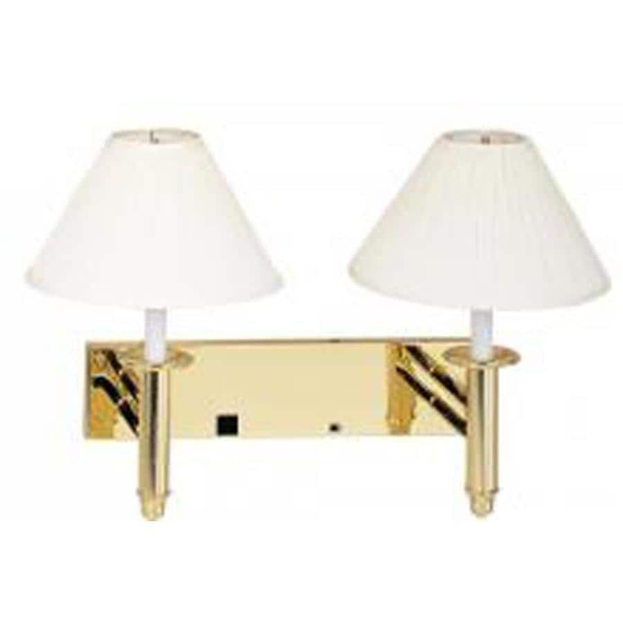 Axis 19-in W 2-Light Beige Arm Wall Sconce