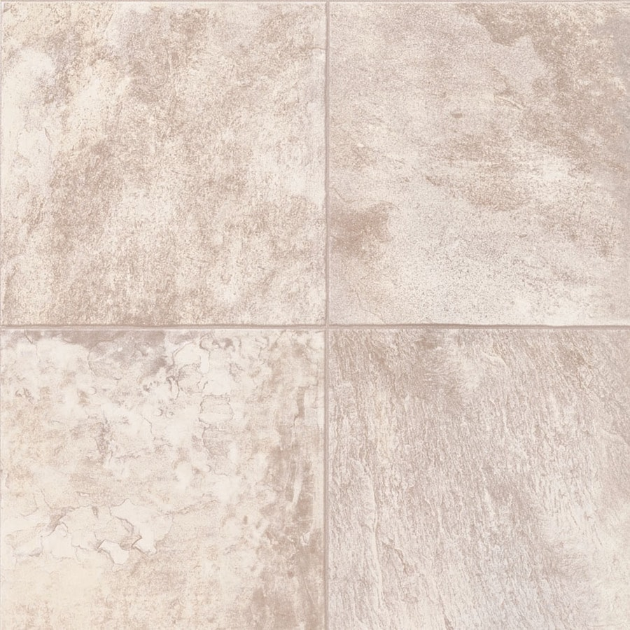 Shop congoleum 12 ft w full moon tile low gloss finish for Sheet vinyl flooring
