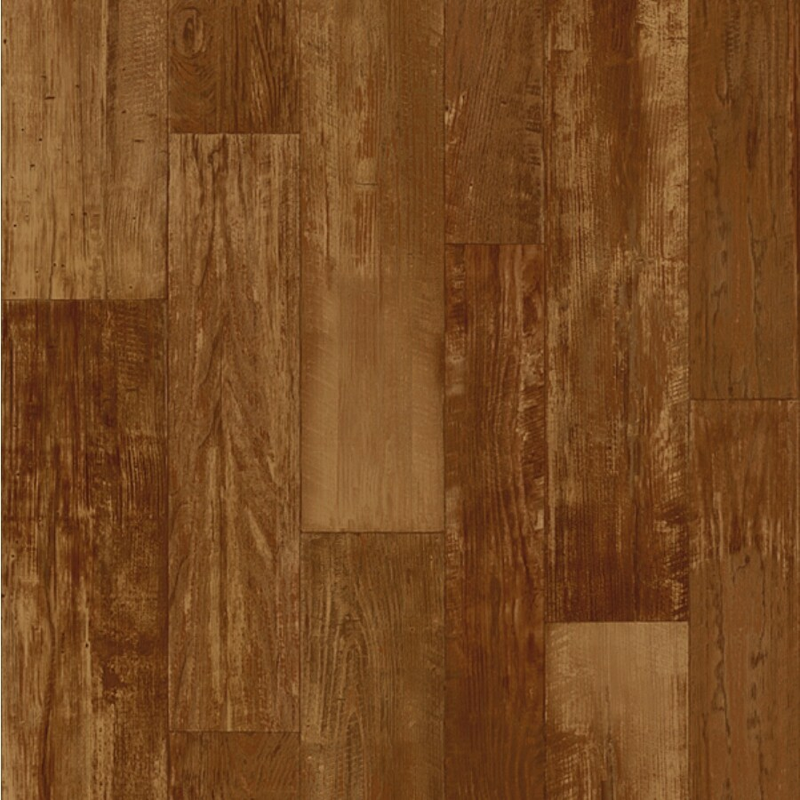 Congoleum 12-ft W Log Cabin Wood Low-Gloss Finish Sheet Vinyl