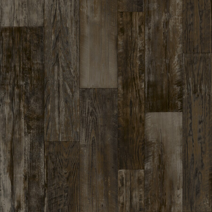 Congoleum 12-ft W Steel Wool Wood Low-Gloss Finish Sheet Vinyl