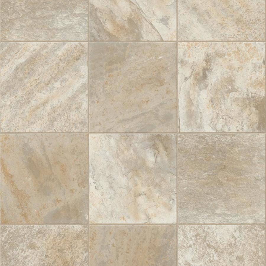 Congoleum 12-ft W Quicksand Tile Low-Gloss Finish Sheet Vinyl