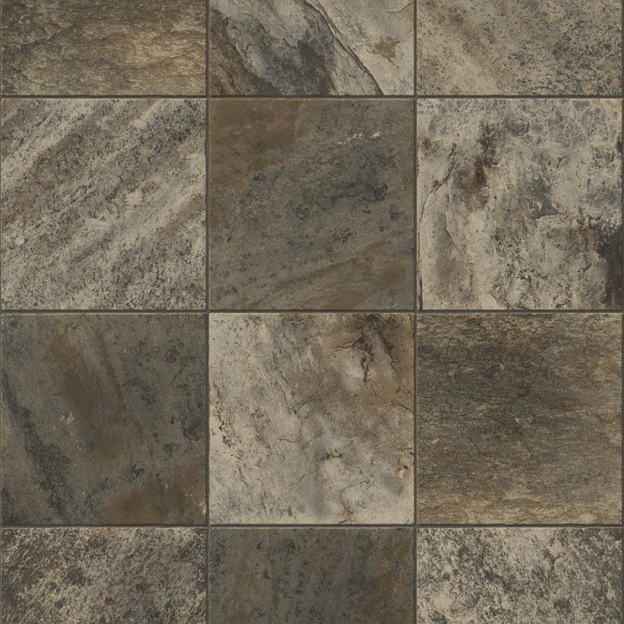 Congoleum 6-ft W River Silt Tile Low-Gloss Finish Sheet Vinyl