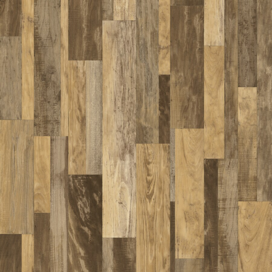 Congoleum 12-ft W Braun Wood Low-Gloss Finish Sheet Vinyl