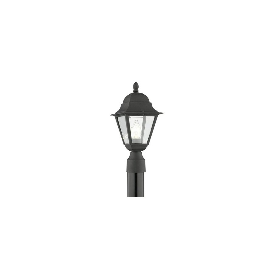 Thomas Lighting Windbrook 16-in Black Pier Mount Light