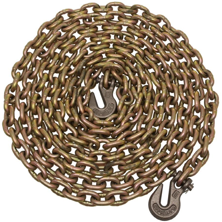 Campbell Commercial 20-ft Welded Yellow Chromate Steel Chain