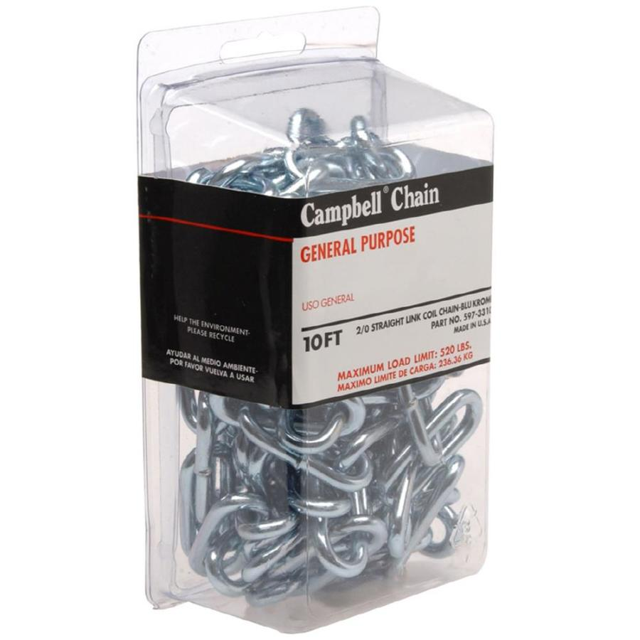 Campbell Commercial 10-ft Welded Zinc Plated Steel Chain