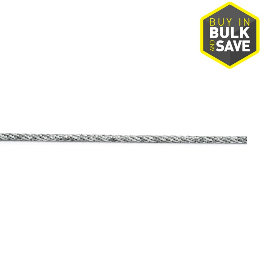 Campbell Commercial 1-ft 3/16-in Weldless Galvanized Steel Cable (By-The-Foot)