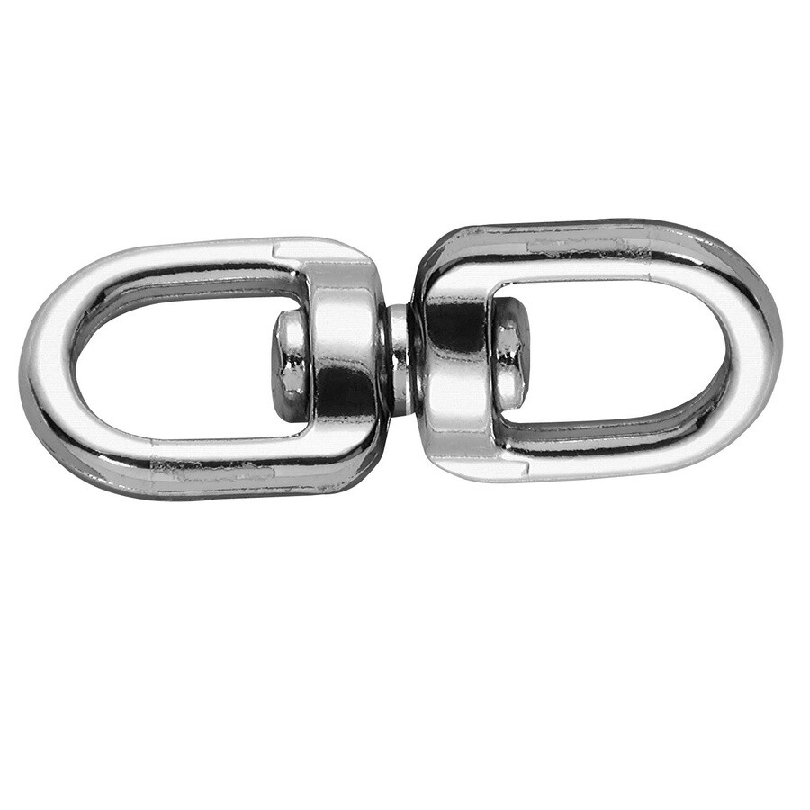 Covert 3/4-in Nickel Plated Double Swivel