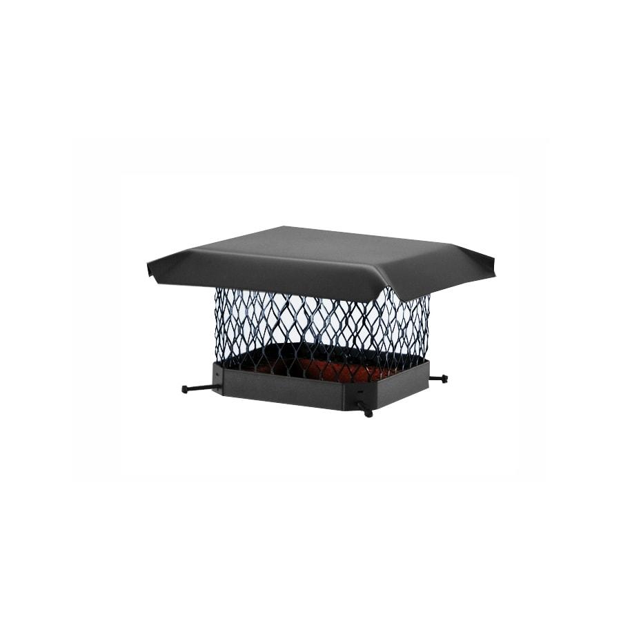 Shelter 11-in W x 11-in L Black Galvanized Steel Square Chimney Cap