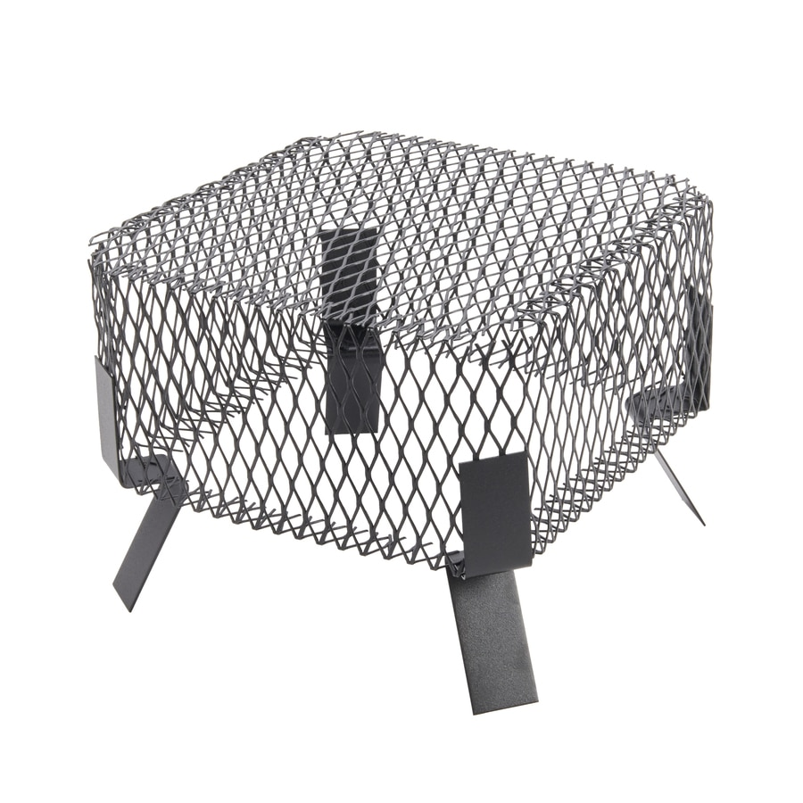 Shelter 12-in W x 12-in L Black Galvanized Steel Square Chimney Cap