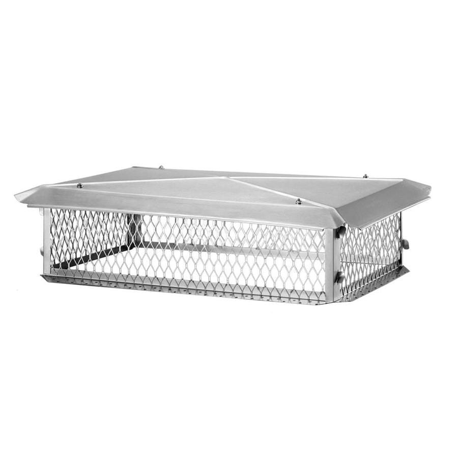 Shelter 14-in W x 26-in L Stainless Steel Rectangular Chimney Cap