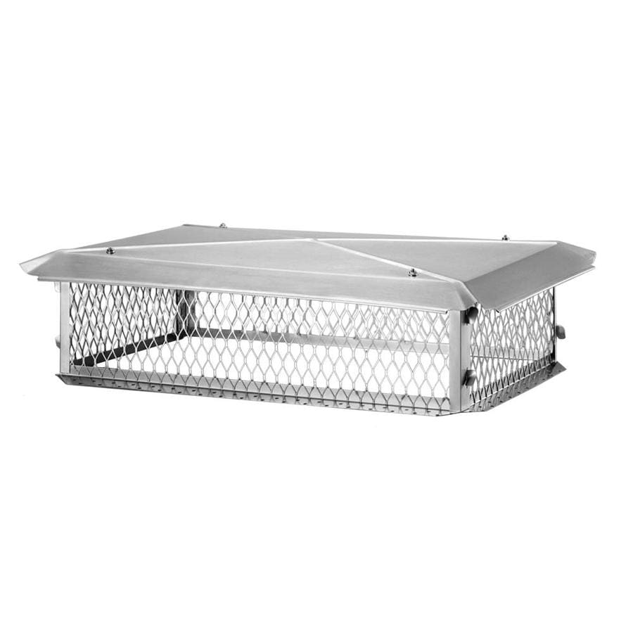 Shelter 17-in W x 29-in L Stainless Steel Rectangular Chimney Cap