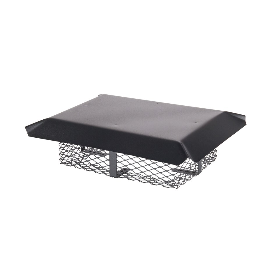 Shelter 13-in W x 18-in L Black Galvanized Steel Rectangular Chimney Cap