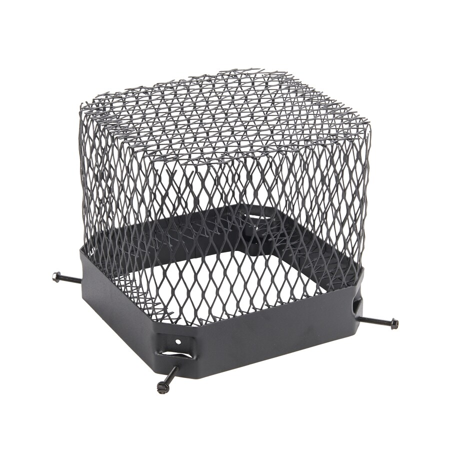 Shelter 9.5-in W x 9.5-in L Black Galvanized Steel Square Chimney Cap