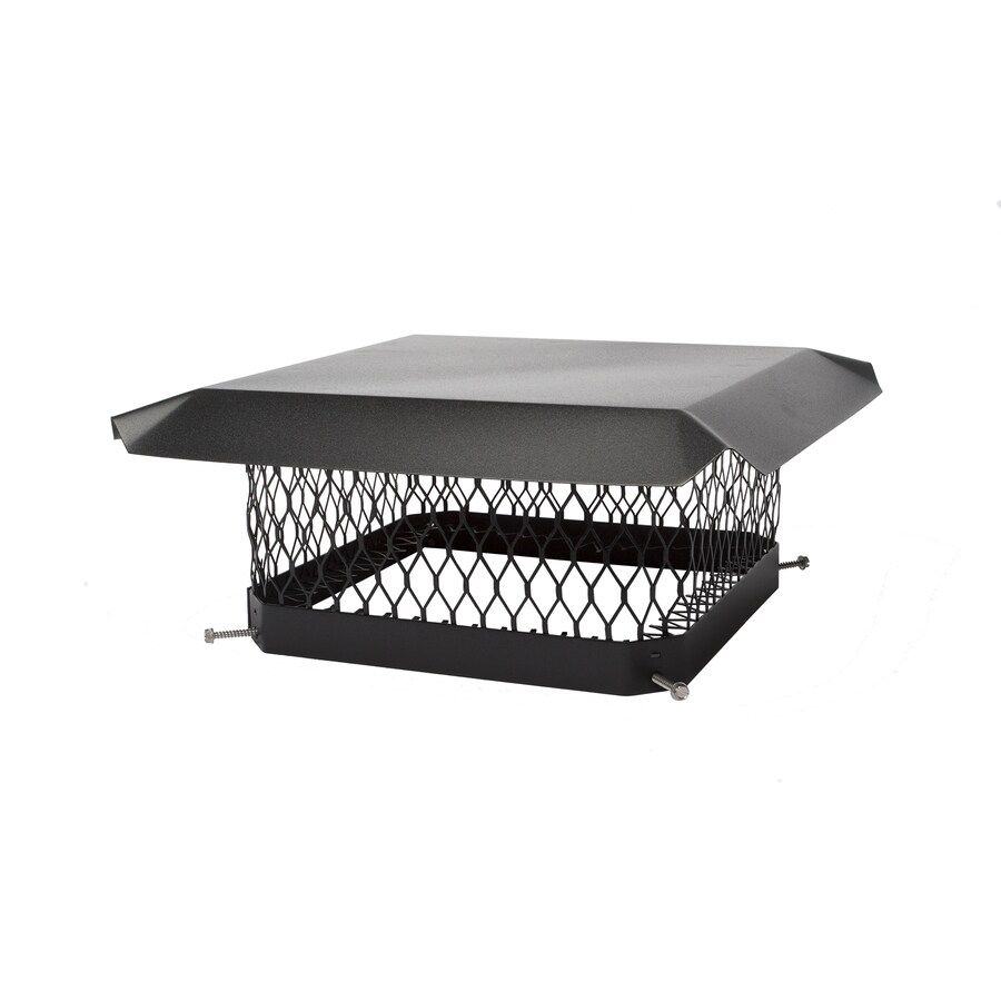 Shelter 13-in W x 13-in L Black Galvanized Steel Square Chimney Cap
