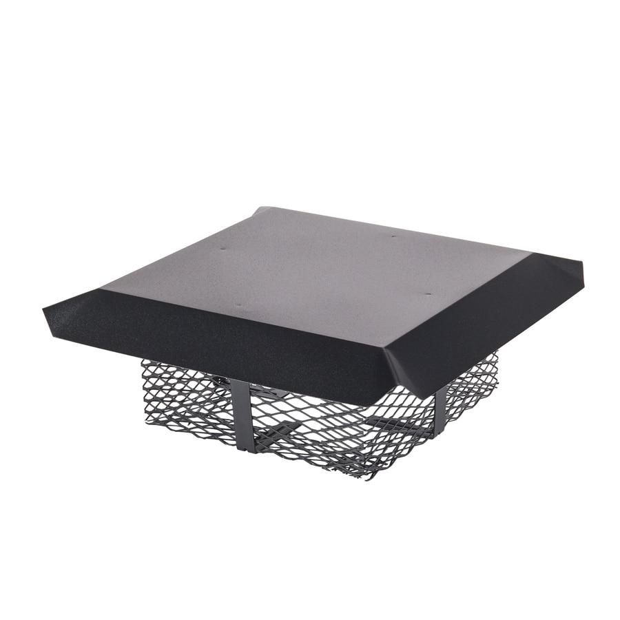 Shelter 13-in W x 13-in L Black Galvanized Steel Square Chimney Cap