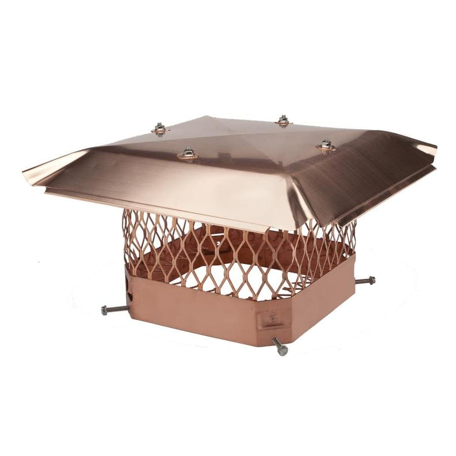 Shelter 13-in W x 18-in L Copper Rectangular Chimney Cap