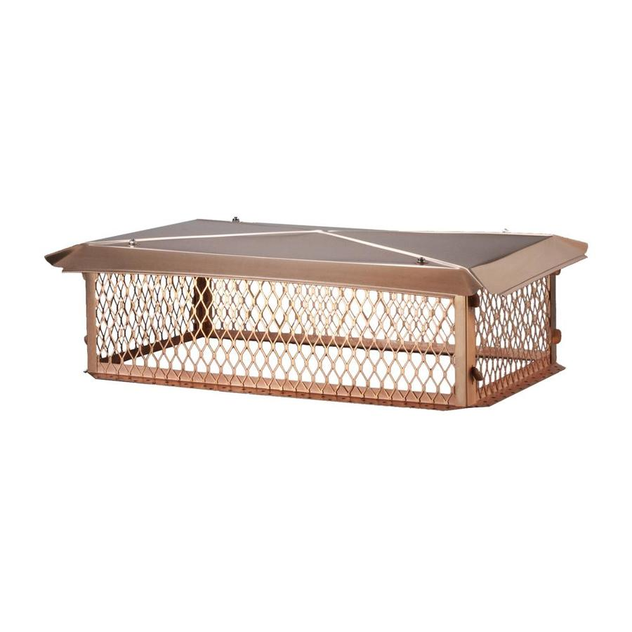 Shelter 14-in W x 30-in L Copper Rectangular Chimney Cap