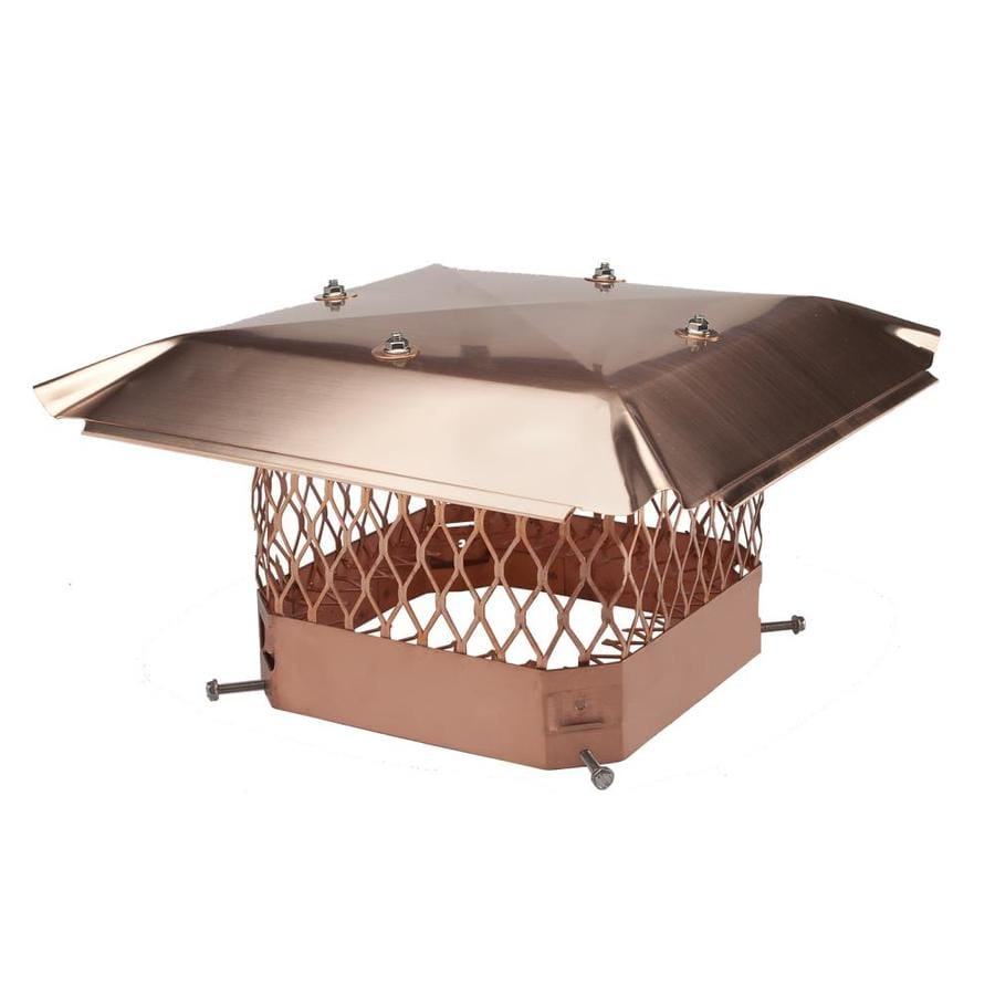 Shelter 18-in W x 18-in L Copper Square Chimney Cap