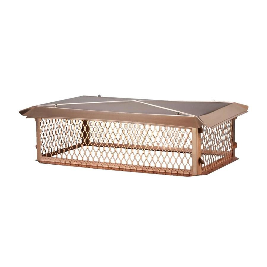 Shelter 17-in W x 35-in L Copper Rectangular Chimney Cap