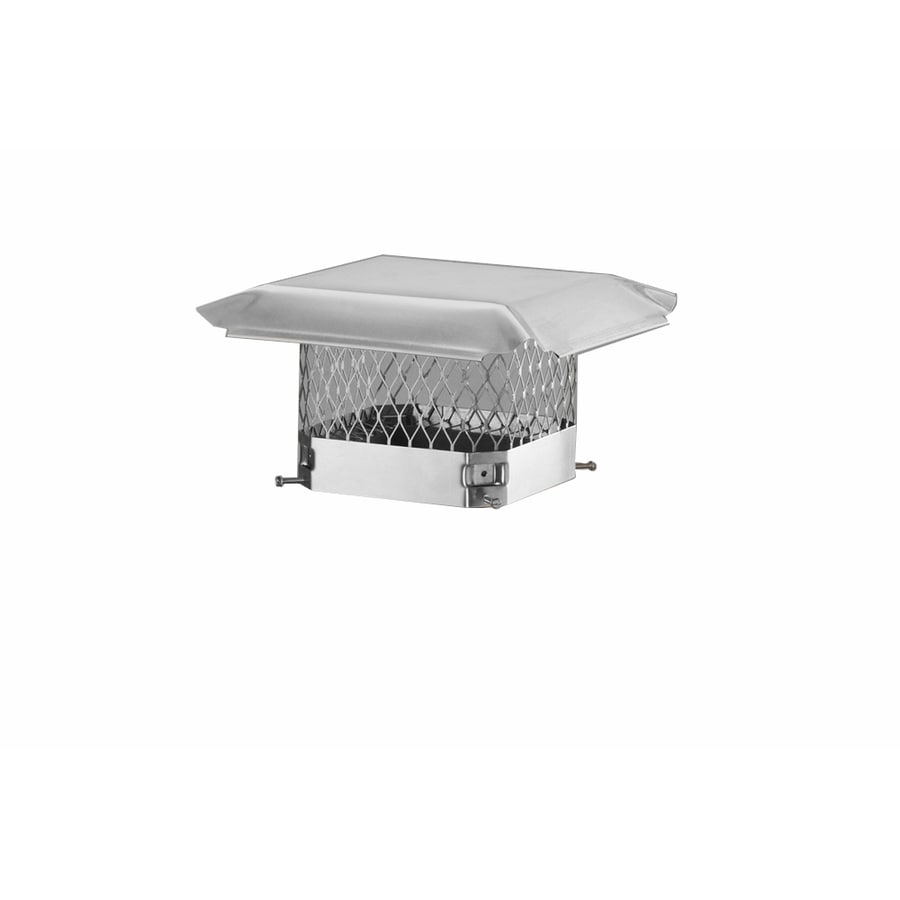 Shelter 9-in W x 21-in L Stainless Steel Rectangular Chimney Cap