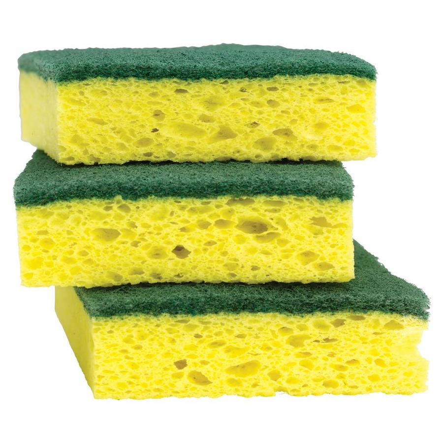 Shop Scotch Brite 3 Pack Cellulose Sponges With Scouring
