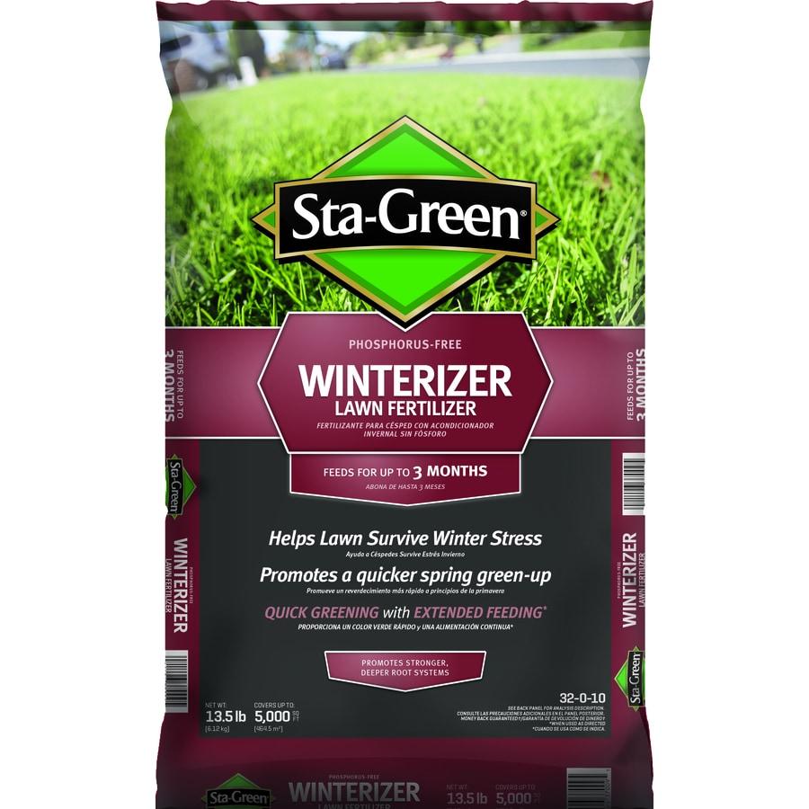 Shop sta green 5 000 sq ft winterizer lawn fertilizer 32 0 10 at for Sta green garden soil