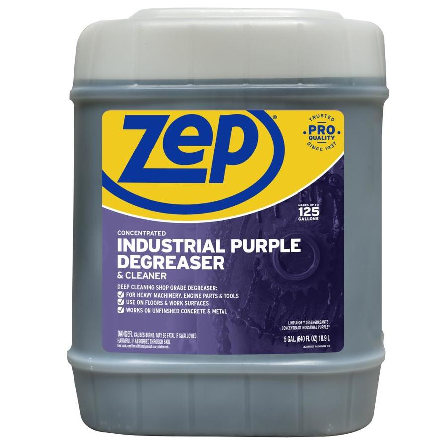 Shop zep commercial industrial purple cleaner 5 gallon for Concrete cleaner degreaser