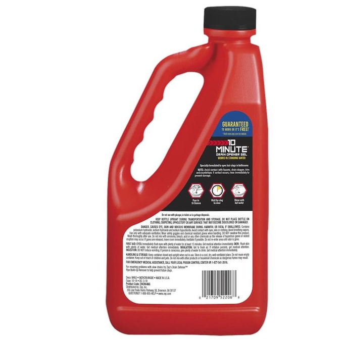 Zep 10 Minute Drain Opener Gel 64 Fl Oz Drain Cleaner In