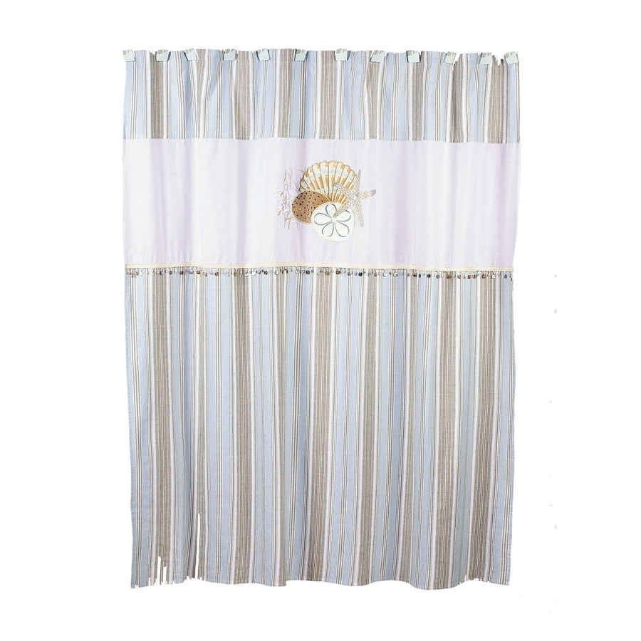 Avanti By The Sea Polyester Shell Motif Patterned Shower Curtain