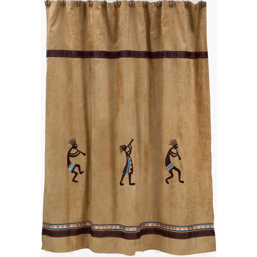 Avanti Kokopelli Polyester Kokopelli Pattern Patterned Shower Curtain