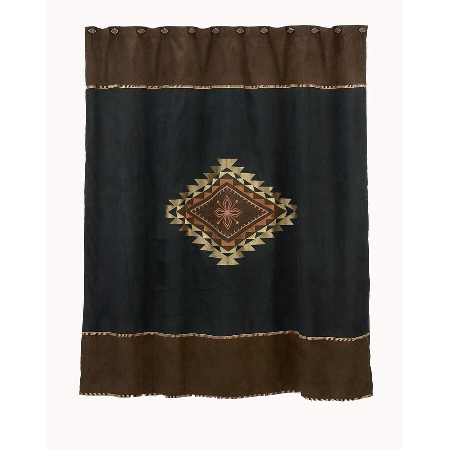 Avanti Mojave Polyester Aztec Medallion Motif Patterned Shower Curtain