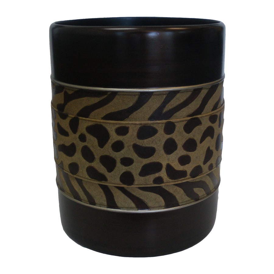 Avanti Cheshire Mocha Resin Wastebasket