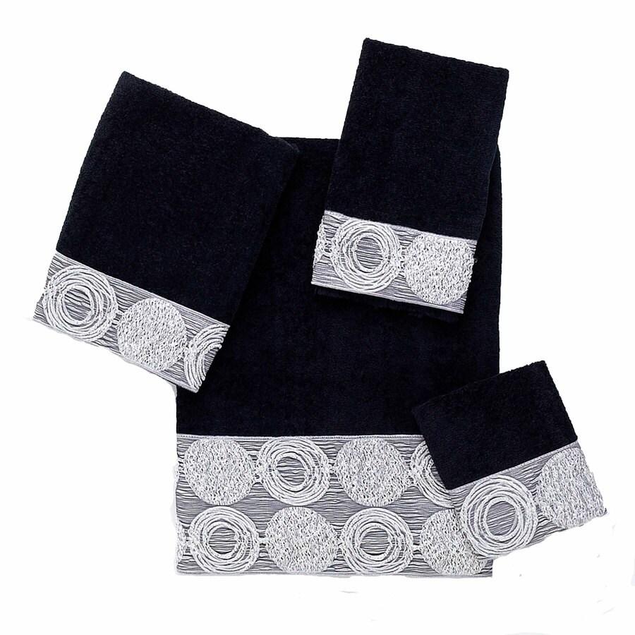 Avanti Black Cotton Bath Towel Set