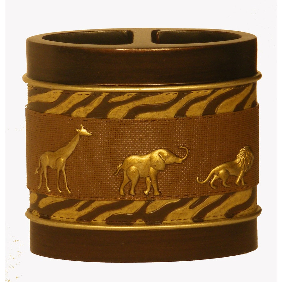 Avanti Animal Parade Brown Resin Toothbrush Holder