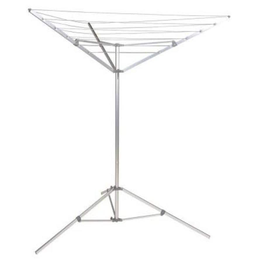 Household Essentials 12-Line Outdoor Umbrella-Style Clothes Drying Racks Metal