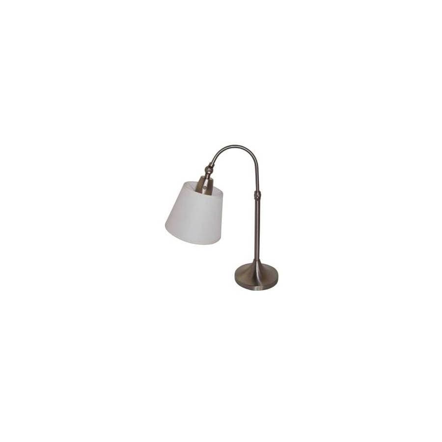 Catalina 24.02-in Brushed Nickel Indoor Table Lamp with Fabric Shade