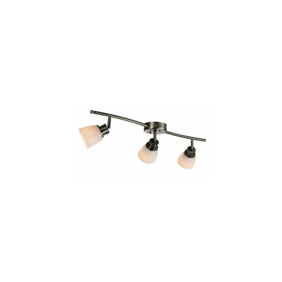 allen + roth 3-Light 33.46-in Brushed Steel Fixed Track Light Kit