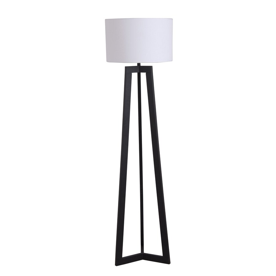 Catalina 58-in Black Indoor Floor Lamp with Fabric Shade