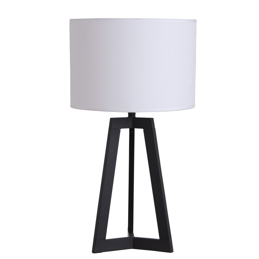 Catalina 23.62-in Black Indoor Table Lamp with Fabric Shade